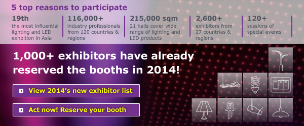 1,000+ exhibitors have already confirmed the booth in 2014!