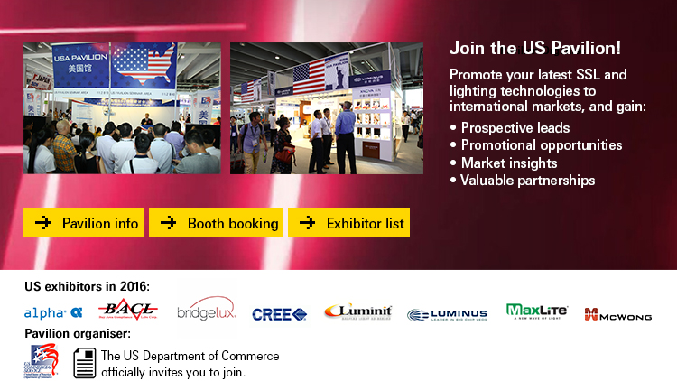 Promote SSL and latest lighting technologies to the international markets.  Exhibits in the eighth edition of the US Pavilion at GILE 2017.