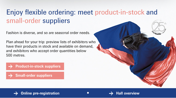 Enjoy flexible ordering: meet product-in-stock and small-order suppliers