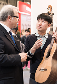 Visitors experienced the internationalism of the fair from worldwide suppliers