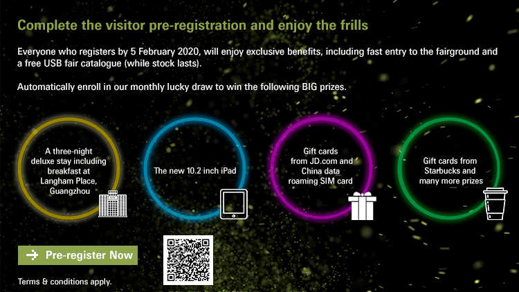 Complete the Visitor Pre-registration and enjoy the frills